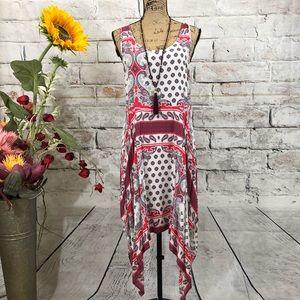 Umgee BOHO Paisley Asymmetrical Dress